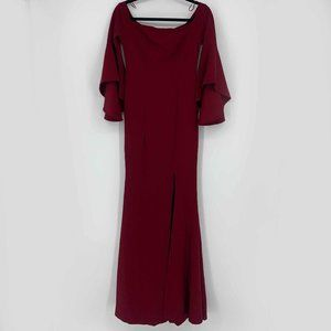 Ricarica Red Maxi Dress with Bell Sleeves